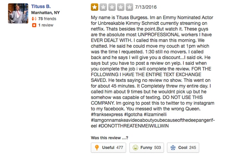 tituss yelp review